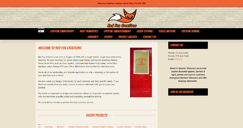 Red Fox Creations | Website Design